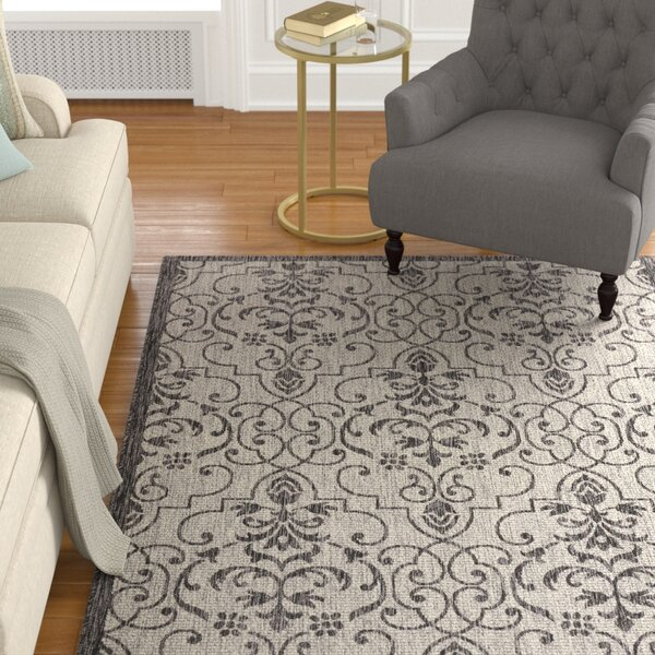 Bedervale Ivory/Charcoal Indoor/Outdoor Area Rug by Astoria Grand