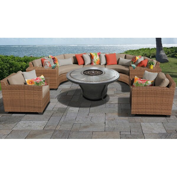 Waterbury 8 Piece Sectional Seating Group with Cushions by Sol 72 Outdoor