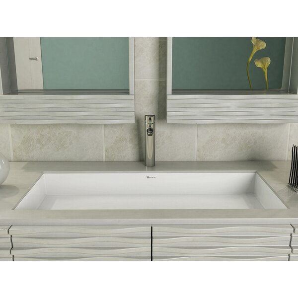 Sondra Solid Surface Other Rectangular Undermount Bathroom Sink with Overflow by DECOLAV