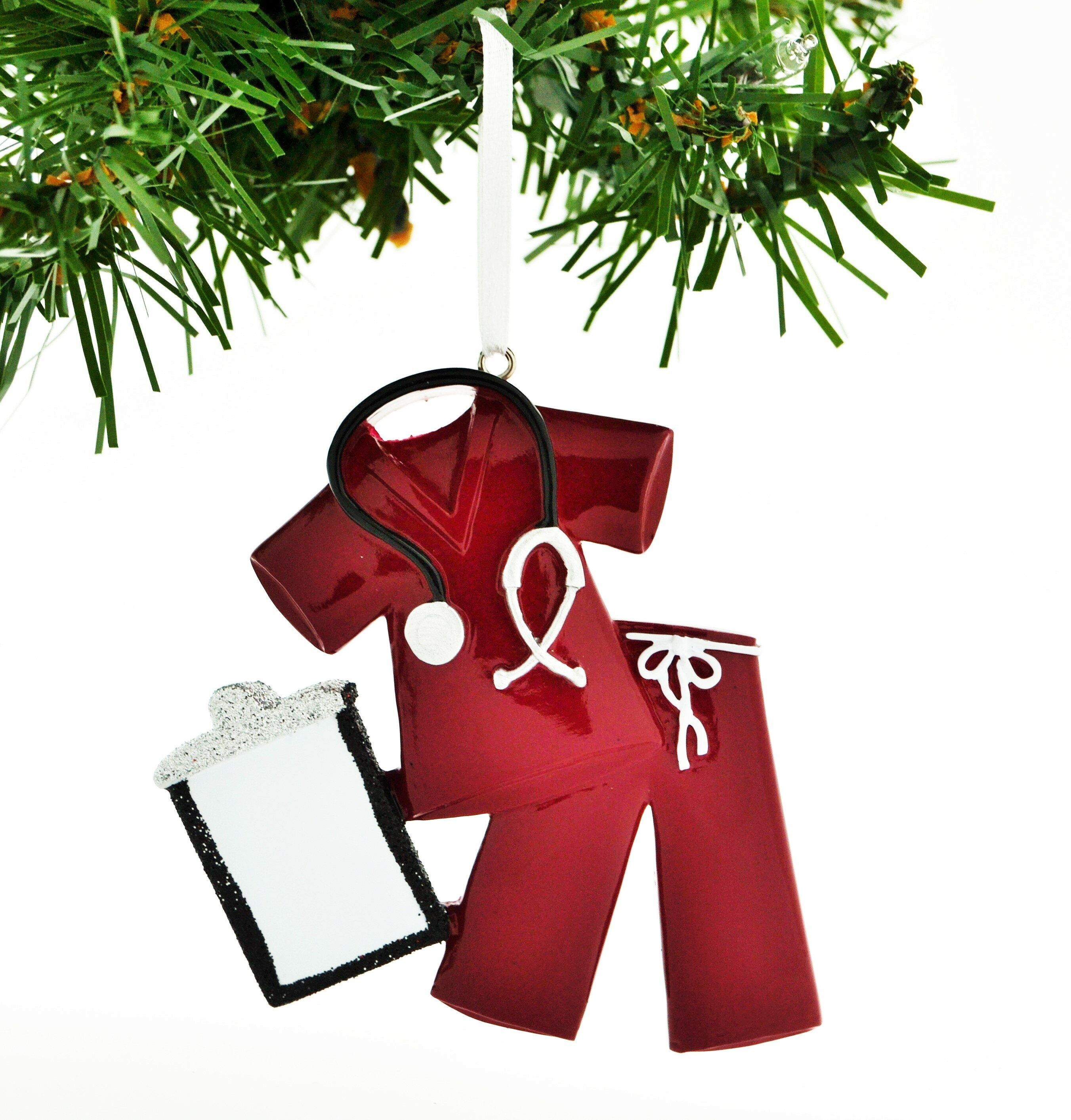 Personalized Christmas Ornament.Personalized Christmas Ornament Scrubs Doctor Nurse Hanging Figurine