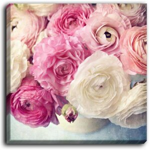 'Shades of Pink' by Sylvia Cook Graphic Art on Wrapped Canvas by DiaNoche Designs