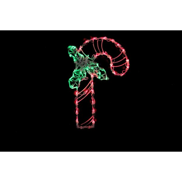 18 Candy Cane Christmas Window Silhouette Decoration Lighted Display by The Holiday Aisle