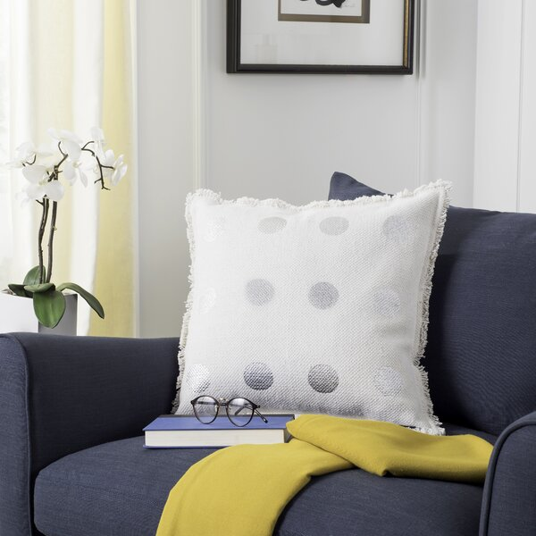 Mercouri Metallic Dots Throw Pillow by House of Hampton