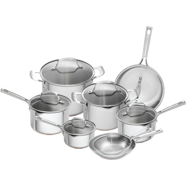 14 Piece Stainless Steel Copper Core Cookware Set by Emeril Lagasse