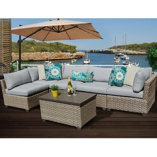 Monterey 6 Piece Sectional Set with Cushions By TK Classics