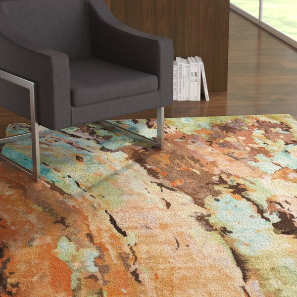 Donelle Hand-Tufted Brown/Green/Blue Area Rug by Latitude Run