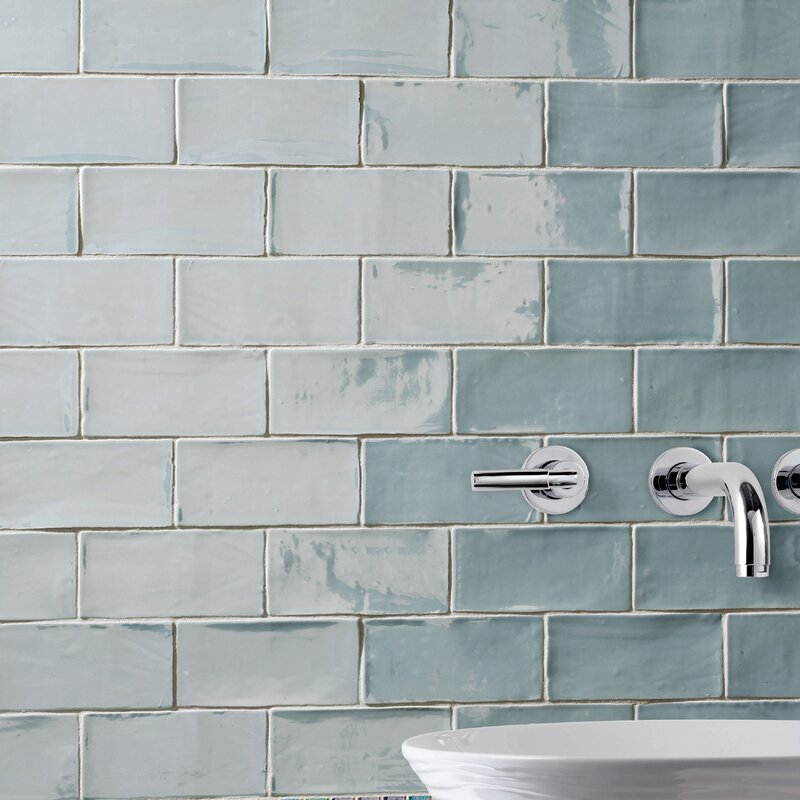 Tivoli 3 X 6 Ceramic Subway Tile In Aqua Blue