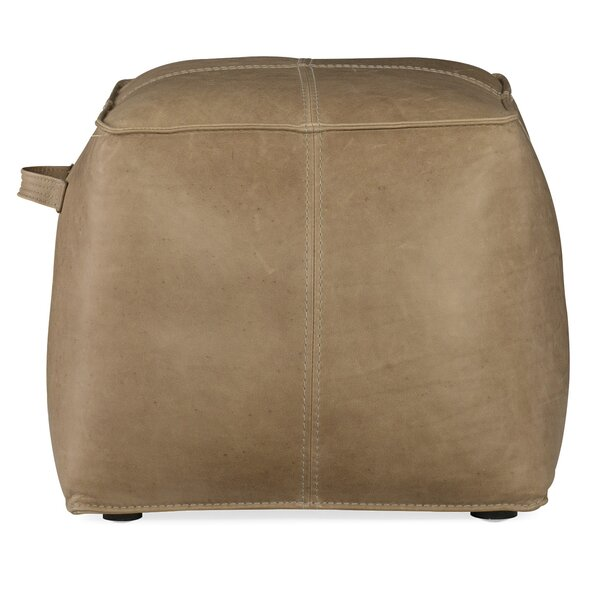 Birks Leather Pouf By Hooker Furniture