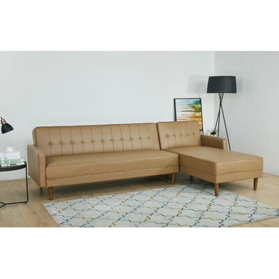 Tan Leather Sectional Sofa Wayfair