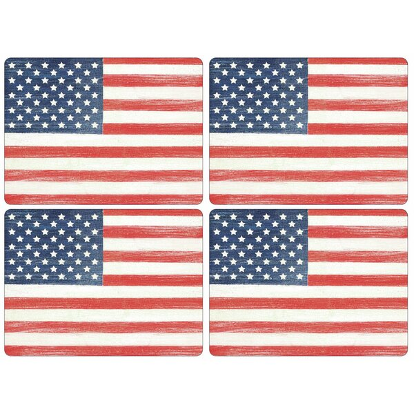 Pimpernel American Flag Melamine 16'' Placemat (Set of 4) by Pimpernel