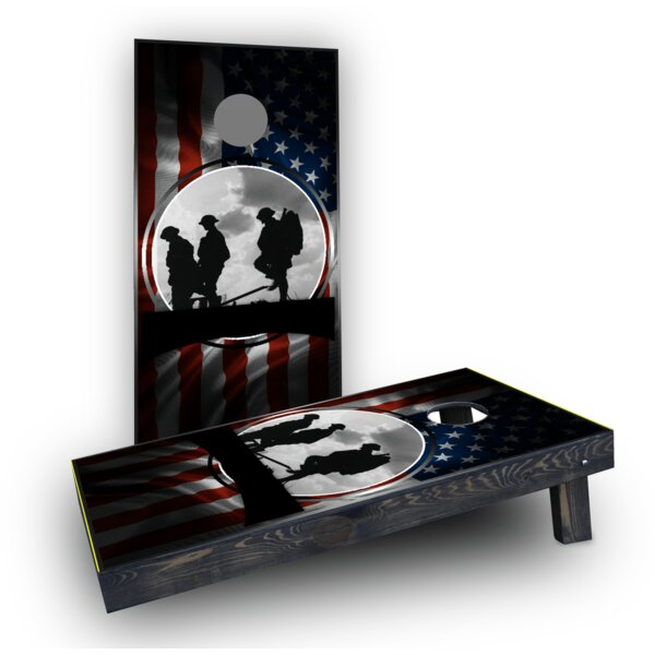 POW Theme Light Weight Cornhole Game Set by Custom Cornhole Boards