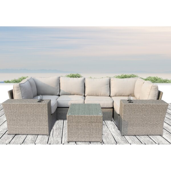 Winsford 9 Piece Sectional Seating Group with Cushions by Rosecliff Heights