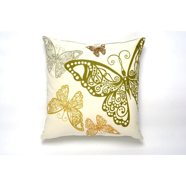 Butterfly Rabble Cotton Pillow Cover by Darzzi