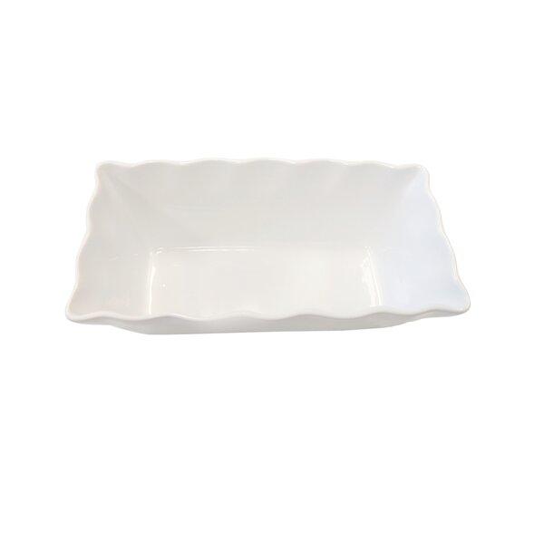 Rectangular Ruffled Stoneware Loaf Pan Bakeware by Cook Pro