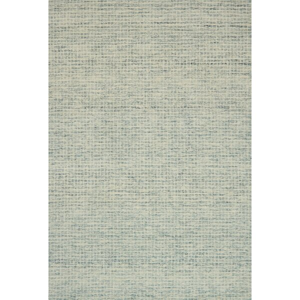 Bourque Hand-Hooked Wool Spa Area Rug by Highland Dunes