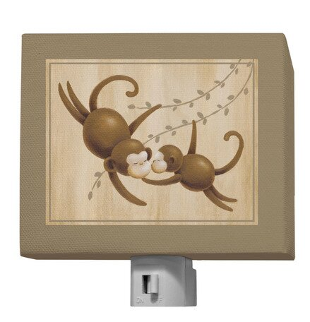 Safari Kisses - Monkey Night Light by Oopsy Daisy