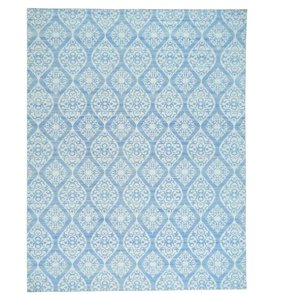 Flat Weave Durie Kilim Reversible Oriental Hand-Knotted Ivory Area Rug by Bloomsbury Market