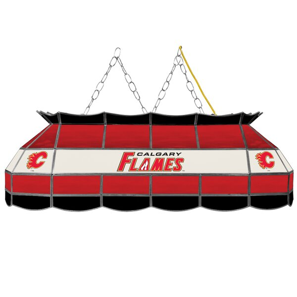 NHL Stained Glass 3-Light Pool Table Light by Trad