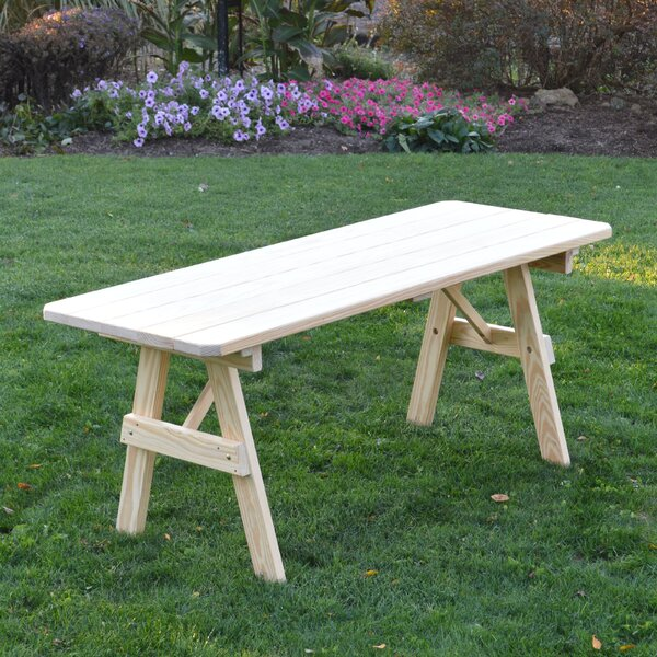 Scipio Wooden Picnic Bench by Loon Peak