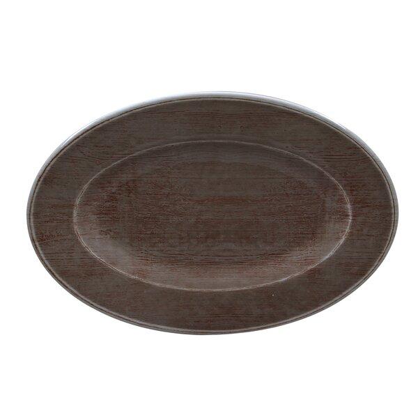 Vinny Melamine Oval Platter (Set of 12) by Highland Dunes