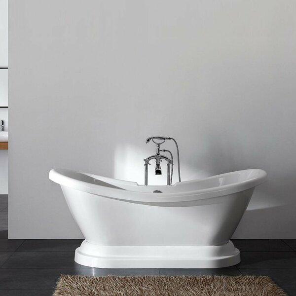 Charlotte 69 x 27 Freestanding Bathtub by Ancona