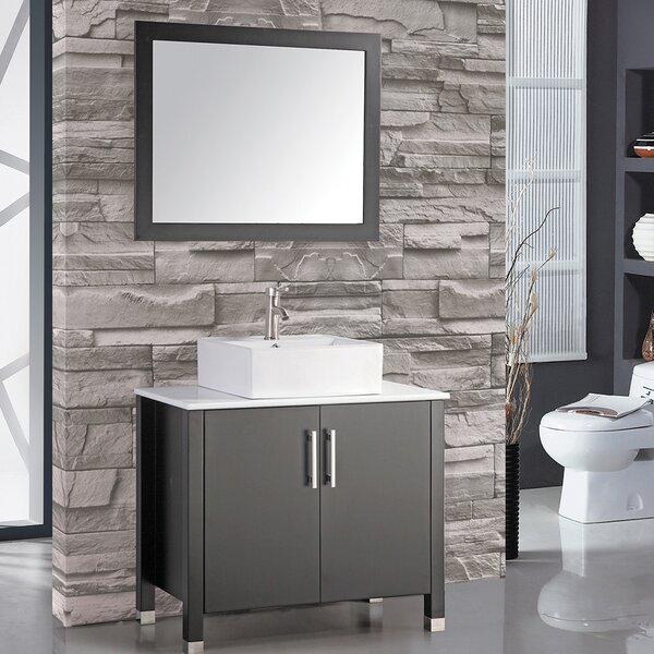 Laroche 35 Single Bathroom Vanity Set with Mirror by Latitude Run