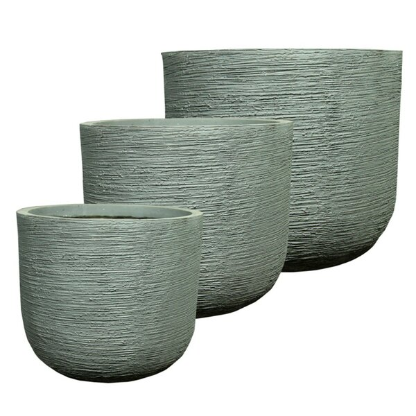 Monteith Trendsetting Round 3-Piece Fiber Clay Pot Planter Set by Williston Forge