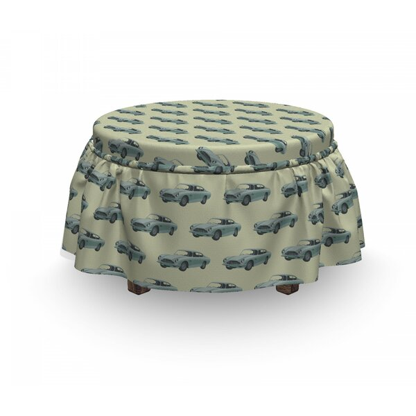Sports Car Ottoman Slipcover (Set Of 2) By East Urban Home