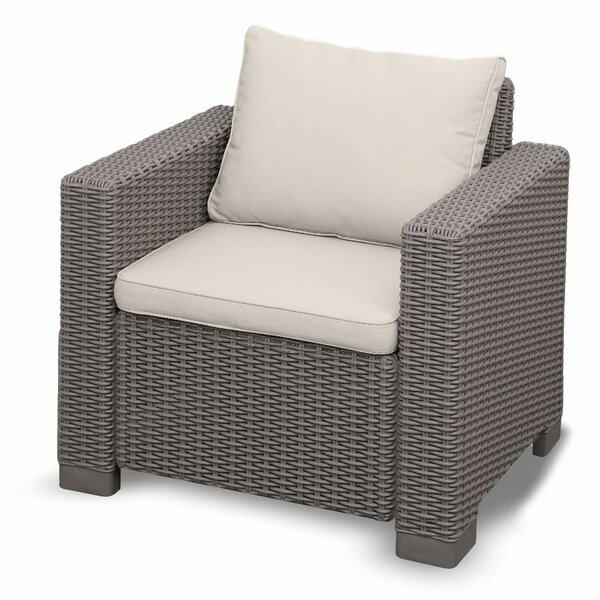 Cricklade Premium All Season Outdoor Wicker Patio Chair with Cushions by Highland Dunes