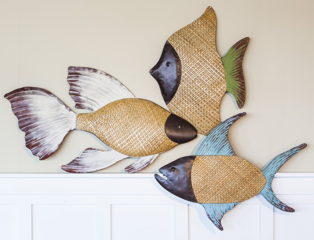 Charming Woven Grass Fish Wall Decor