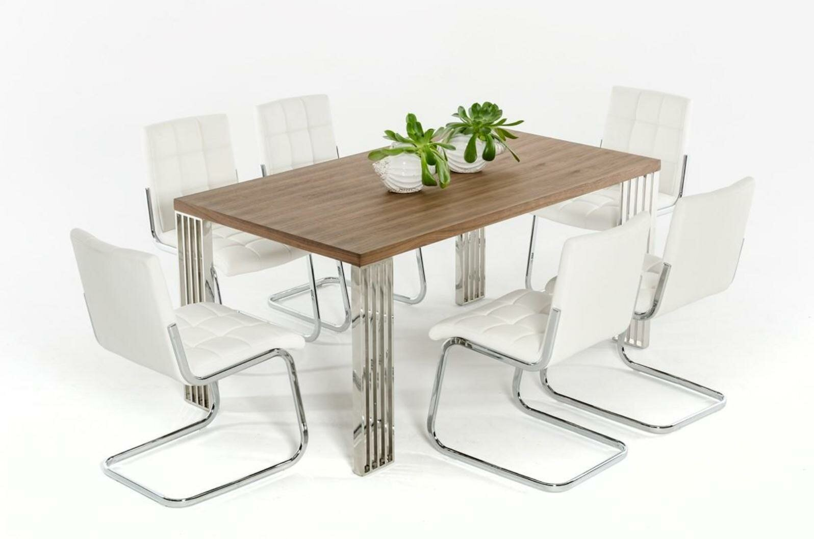 Clower Wood Top Dining Table