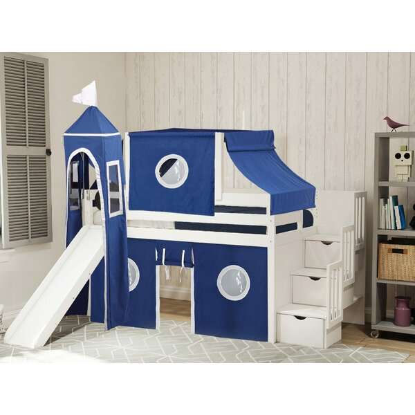 Johannes Castle Twin Low Loft Bed with Drawers by Zoomie Kids