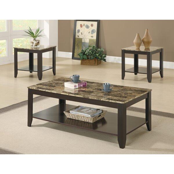 Review Masboro 3 Piece Coffee Table Set