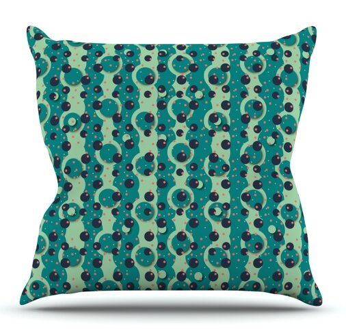 Bubbles Made of Paper by Akwaflorell Outdoor Throw Pillow by East Urban Home