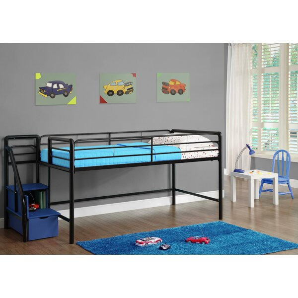 Bewley Junior Twin Low Loft Bed with Drawers by Zoomie Kids