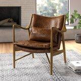 Terrific Modern Contemporary Saddle Brown Leather Chair Allmodern Creativecarmelina Interior Chair Design Creativecarmelinacom