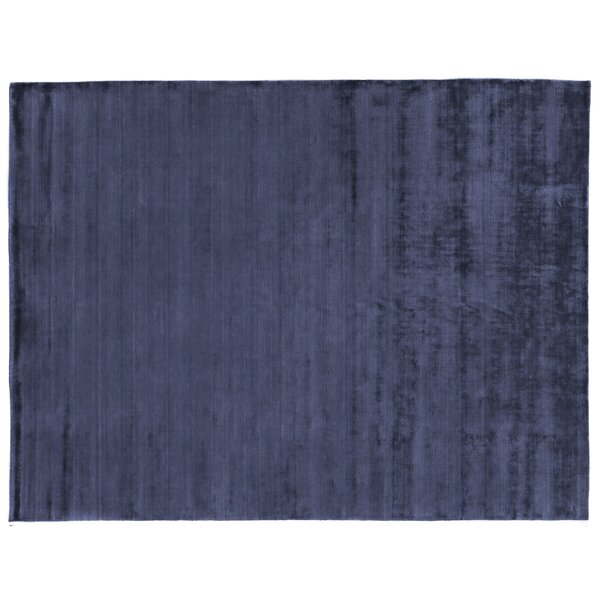 Purity Hand-Woven Silk Dark Blue Area Rug by Exquisite Rugs