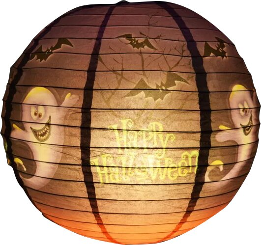 Ghost Halloween Paper Lantern by The Paper Lantern Store