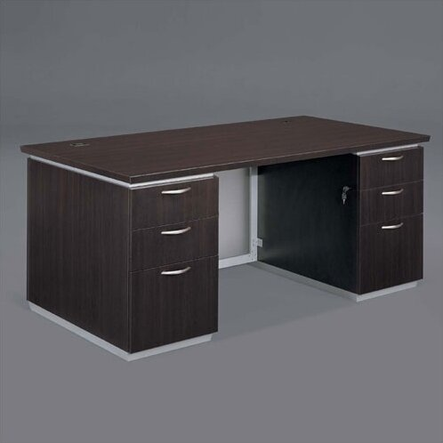 Pimlico Double Pedestals Executive Desk by Flexsteel Contract