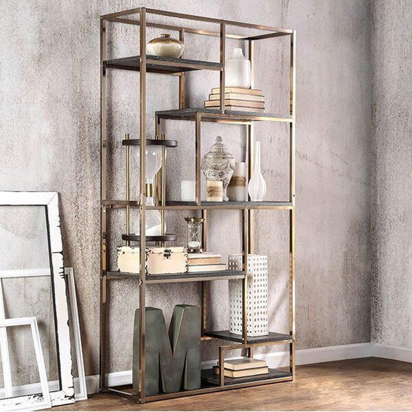 70.25 H x 38 W Elvira Contemporary Display Shelf by Benzara