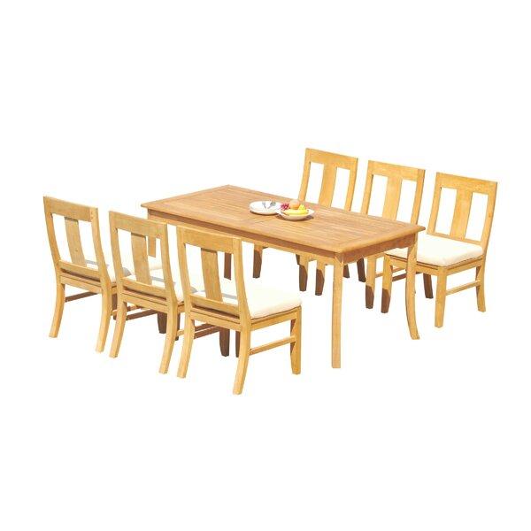 Kevon 7 Piece Teak Dining Set