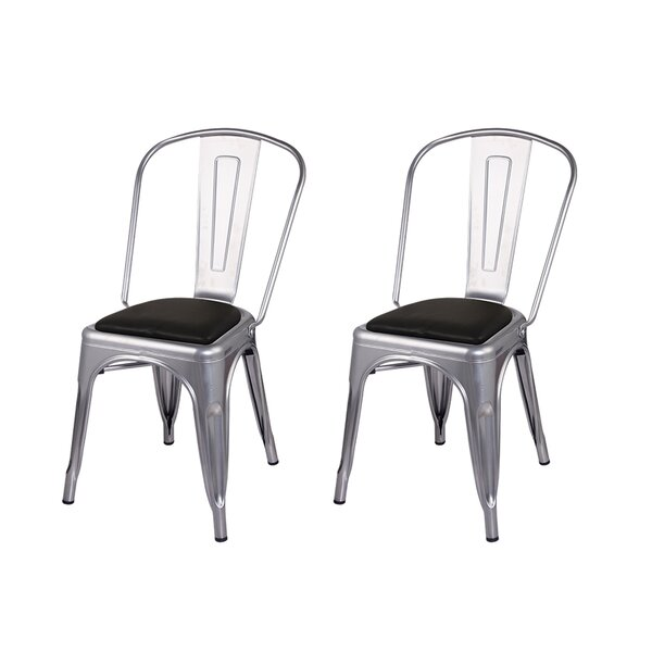 Guillermo Genuine Leather Upholstered Dining Chair (Set of 2) by 17 Stories