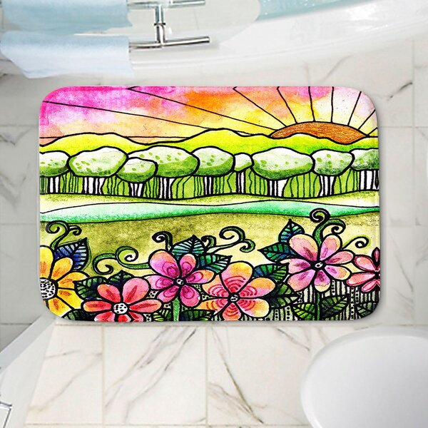 Robin Mead Bright Horizon Non-Slip Floral Bath Rug