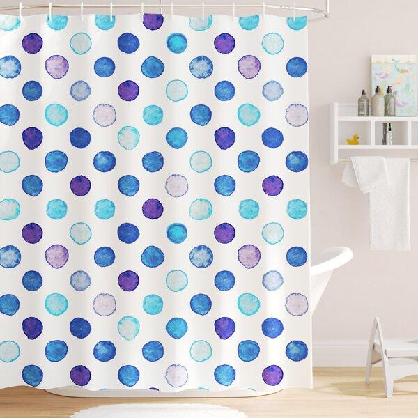 Bradford Vintage Polka Dots Shower Curtain by Viv + Rae