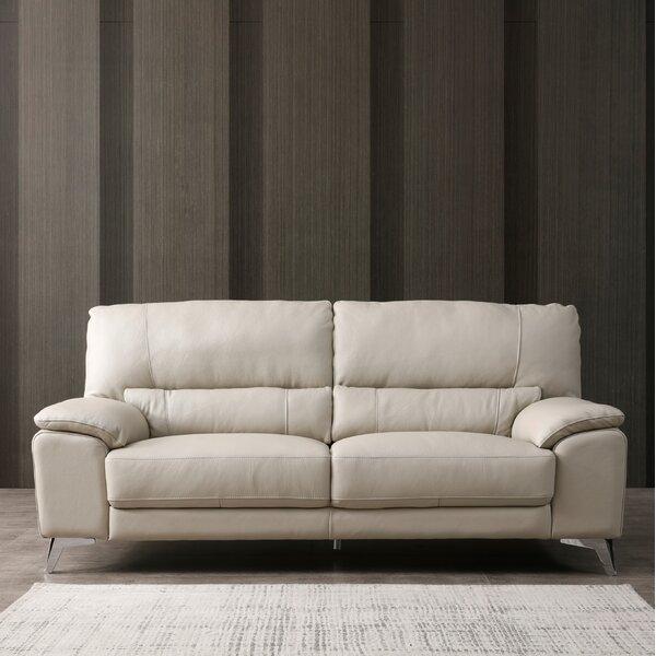 Podington Leather Loveseat by Orren Ellis