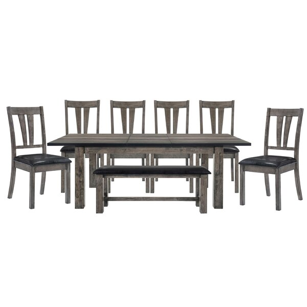Okamoto 8 Piece Dining Set by Loon Peak