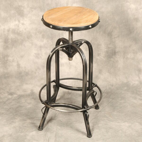 Adjustable Height Swivel Bar Stool by Design Tree Home