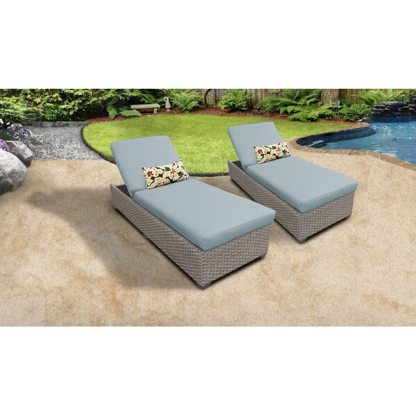 Rochford Outdoor Chaise Lounge with Cushion (Set of 2) by Sol 72 Outdoor