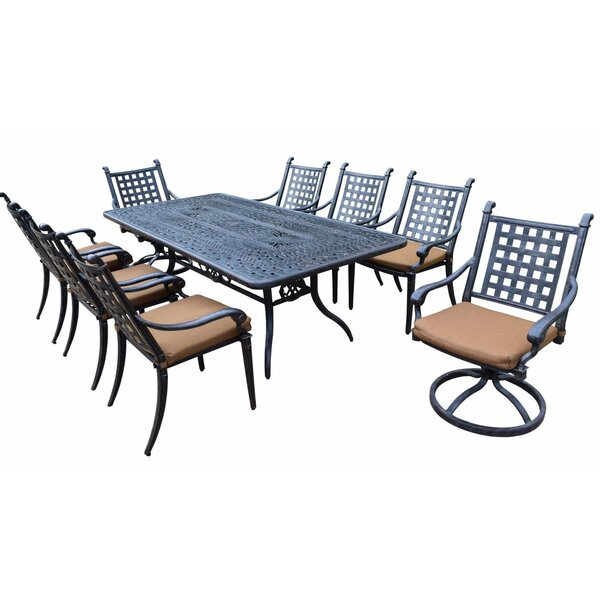 Arness 12 Piece Bar Height Dining Set with Sunbrella Cushions