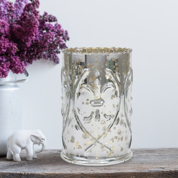 Mercury Glass Lantern Hurricane by Ophelia & Co.